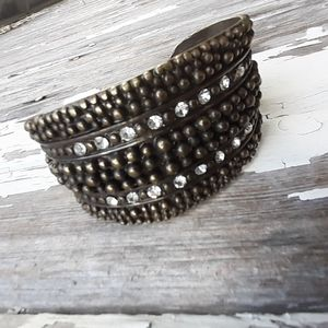 Cuff bracelet! Trendy, cute! Bronze colored